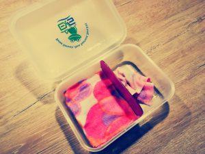 DIY-Feuchttücher: saubere Trennung der benutzten und unbenutzten Feuchttücher