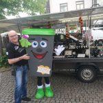EVS Biotonne TIBO auf dem Jahrmarkt zur Pfingstkirmes in Eppelborn