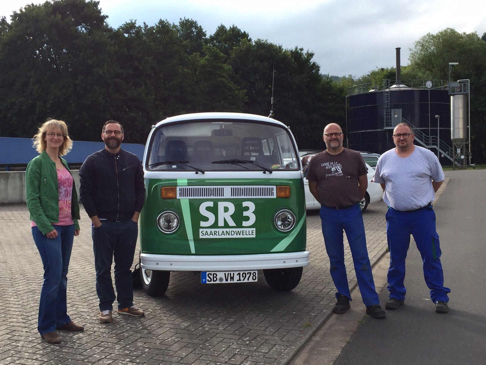 Das GuMo-Mobil auf der Kläranlage in Homburg