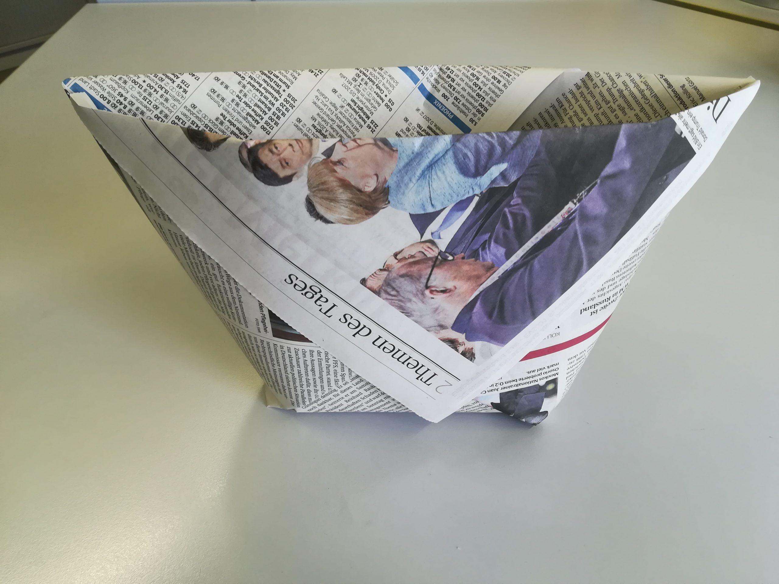 DIY - Papiertüte für den Biomüll