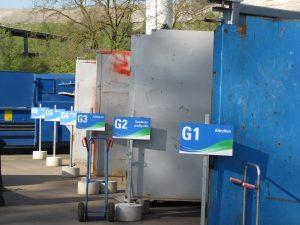 Container des Wertstoffzentrums Ormesheim