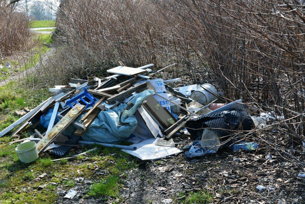 wilde Müllkippe im Wald